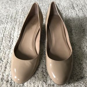 Cole Haan // Nike Air Patent Nude Wedge Heel 7.5